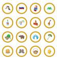 russia cartoon icon circle vector image