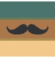 Hipster trend vintage knitted moustache on striped vector image