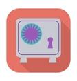 Bank safe icon vector image