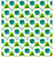 Colorful seamless pattern with green and blue dots vector image vector image
