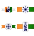 India Independence Day paper Labels Set vector image