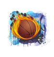 basketball on grunge background vector image