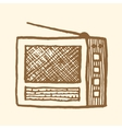Old radio Vintage style vector image