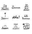 Set of 9 summer labels vector image