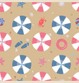 summer seamless pattern beach with umbrellas and vector image