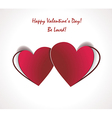 Two valentines paper hearts Gift Card vector image