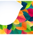 Autumn abstract fall leaves background vector image