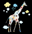 Decorative giraffe vector image