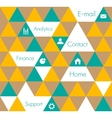 Geometric design template vector image