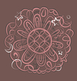 fantasy esoteric mandala vector image