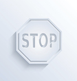 Stop sign with shadow vector image vector image