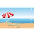 beach scene vector image vector image