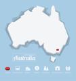 Commonwealth of Australia map vector image