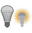 Led light bulb vector image vector image