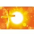 Easter jesus cross background 3 vector image