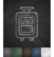 suitcase icon Hand drawn vector image