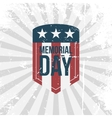 Memorial Day partiotic retro Label vector image