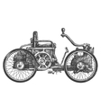 antique car logo design template transport vector image