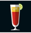 Cocktails cup glass design vector image