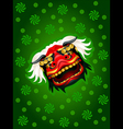 Lion mask background vector image