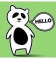 panda hello vector image