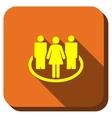 Social Community Longshadow Icon vector image