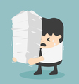 work load concept vector image