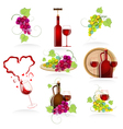 Design elements of the icon wines vector image vector image
