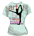 Dance T-shirt vector image