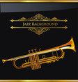 Jazz background vector image vector image