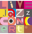 jazz live vector image vector image