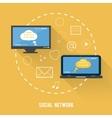 Social network concept in flat design vector image