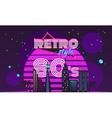 Retro style 80s disco design neon vector image
