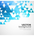 Abstract background made up of blue triangular vector image