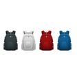 colorful school backpacks backpacks for vector image