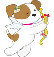 Cupid Puppy vector image