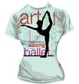 Dance T-shirt vector image