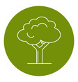 green tree icon in thin line style vector image