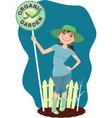 Organic garden vector image