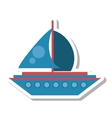 sailboat transport isolated icon vector image