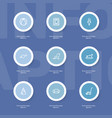 set of 9 editable relatives outline icons vector image