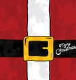 santa claus christmas suit holiday vector image