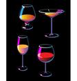 Wine champagne martini cognac vector image vector image