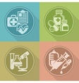 Set of medicines symbols on vector image
