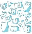 male underwear icon set vector image