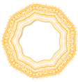 Geometric decorative rosette in the Mexican style vector image vector image