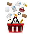 Office supplies design over white background vector image