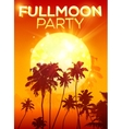 Big orange moon fullmoon party poster background vector image