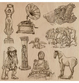 Native and old art pack - hand drawn vector image