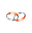 Metallic Rings Connection Logo vector image vector image